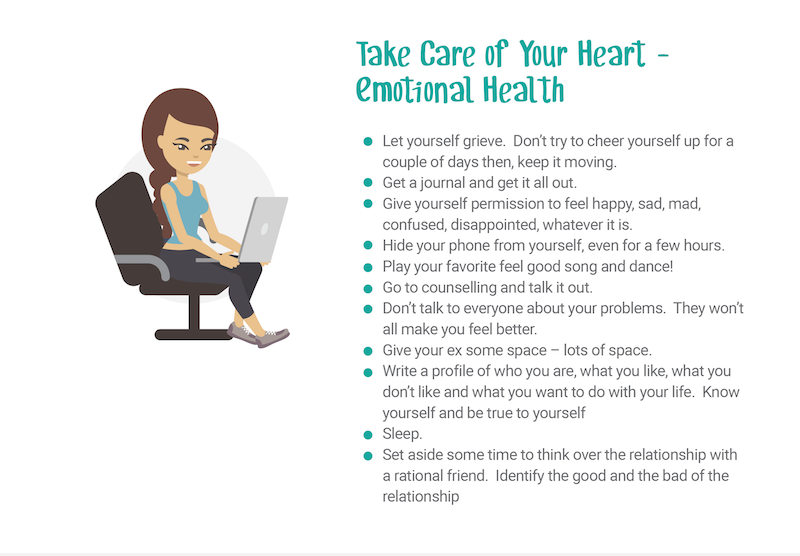 take care of your heart and emotional health