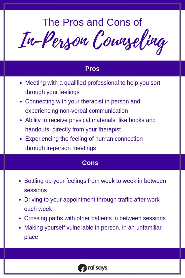 Pros and Cons of In-Person Counseling