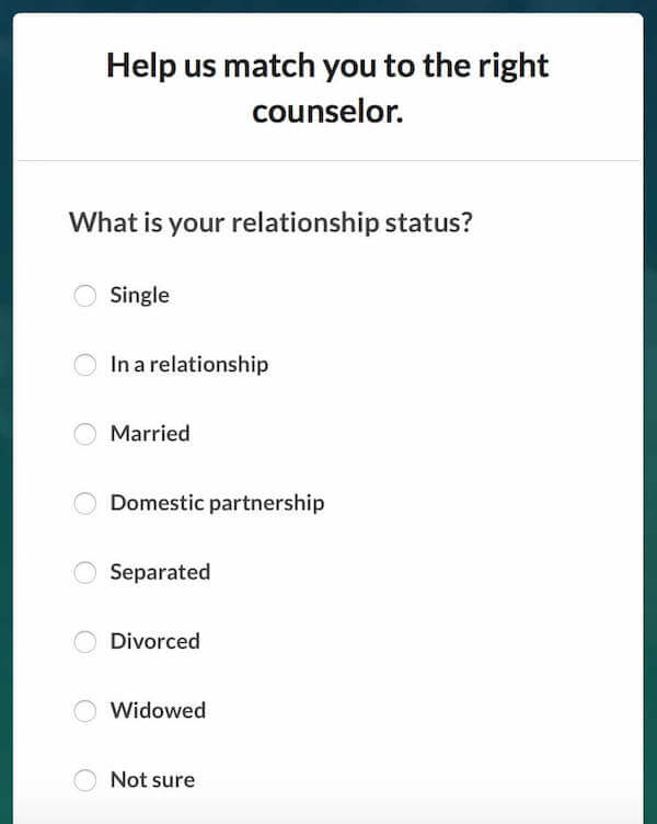 BetterHelp - Relationship Status